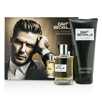David Beckham Classic Kofre: After Shave Losyon 60ml/2oz + Saç ve Vücut Yıkama 200ml/6.7oz  2pcs