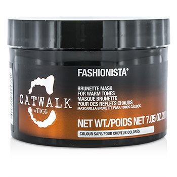 Tigi Catwalk Fashionista Brunette Mask (for varme toner)  200g/7.05oz
