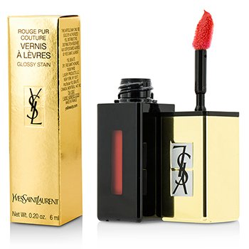 Yves Saint Laurent Rouge Pur Couture Vernis A Levres Color Brillo Agua - #202 Rouge Splash  6ml/0.2oz
