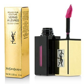 Yves Saint Laurent Rouge Pur Couture Vernis A Levres Pop Water Glossy Stain - #206 Misty Pink  6ml/0.2oz