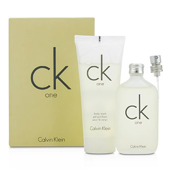 Calvin Klein CK One Coffret: Eau De Toilette Spray 50ml/1.7oz + Limpiador Corporal 100ml/3.4oz  2pcs