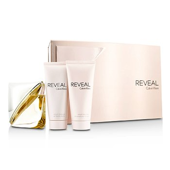 Calvin Klein Reveal Coffret: Eau De Parfum Spray 100ml/3.4oz + Loción Corporal 100ml/3.4oz + Gel Ducha 100ml/3.4oz  3pcs