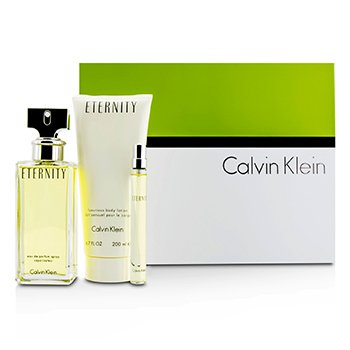Calvin Klein Eternity Kofre: EDP Sprey 100ml/3.4oz + Vücut Losyonu 200ml/6.7oz + EDP 10ml/0.33oz  3pcs