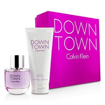 Calvin Klein Downtown Coffret: Eau De Parfum Spray 90ml/3oz + Loción Corporal 200ml/6.7oz (Caja Rosa)  2pcs