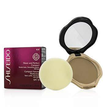 Shiseido Base Compacta Sheer & Perfect SPF15 - #B20 Natural Light Beige  10g/0.35oz