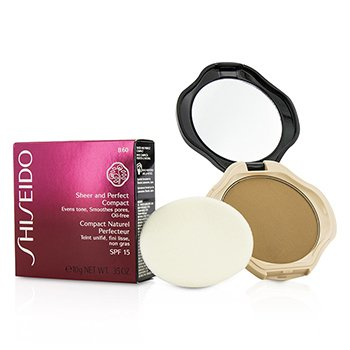 Shiseido Sheer & Perfect Base Compacta  SPF15 - #B40 Natural Fair Beige  10g/0.35oz