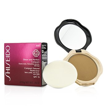 Shiseido Sheer & Perfect Compact Foundation SPF15 - #B60 Natural Deep Beige  10g/0.35oz