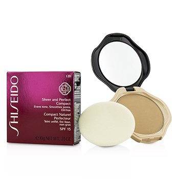 Shiseido Sheer & Perfect Base Compacta  SPF15 - #I20 Natural Light Ivory  10g/0.35oz