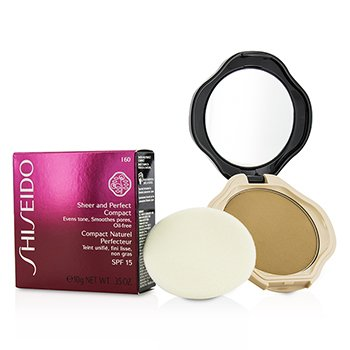 Shiseido Sheer & Perfect Base Compacta  SPF15 - #I60 Natural Deep Ivory  10g/0.35oz