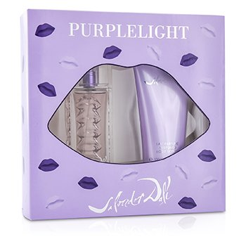 Salvador Dali Purplelight Coffret: Eau De Toilette Spray 30ml/1oz + Loción Corporal 100ml/3.4oz  2pcs