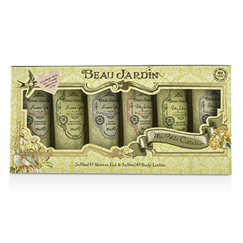 Heathcote & Ivory Beau Jardin Ma Petite Collection: 3x Shower Gel 30ml/1.01oz + 3x Body Lotion 30ml/1.01oz  6pcs