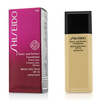 Shiseido Sheer & Perfect Base SPF 18 - # I60 Natural Deep Ivory  30ml/1oz