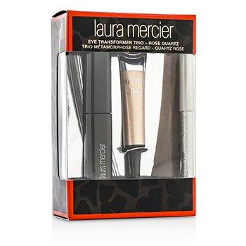 Laura Mercier Eye Transformer Trio (1x Mini Eye Glace 4g + 1x Mini Kohl Eye Pencil 0.85g + 1x Mini Mascara 5.7g) - Rose Quartz  3pcs