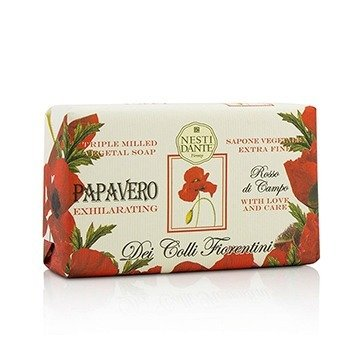 Nesti Dante Dei Colli Fiorentini Triple Milled Vegetal Soap - Poppy  250g