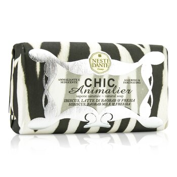 Nesti Dante Chic Animalier Natural Soap - Hibiscus, Baobab Milk & Freesia - Sabun Badan  250g/8.8oz