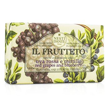 Nesti Dante Il Frutteto Illuminating Soap - Red Grapes & Blueberry  250g/8.8oz