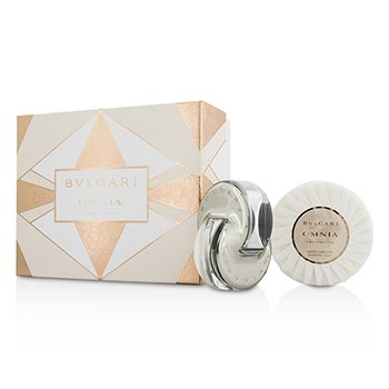 Bvlgari Omnia Crystalline Coffret: Eau De Toilette Spray 40ml/1.35oz + Jabón Perfumado 150g/5.3oz  2pcs