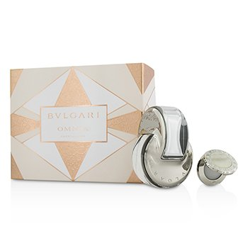 Bvlgari Zestaw Omnia Crystalline Coffret: Eau De Toilette Spray 65ml/2.2oz + Solid Perfume 1g/0.03oz  2pcs