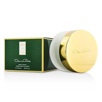 Oscar De La Renta Live In Love Body Cream  150ml/5oz
