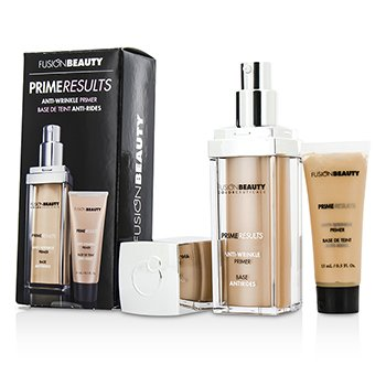 Fusion Beauty Prime Results Anti Wrinkle Set: 1x Anti Wrinkle Primer + 1x Mini Anit Wrinkle Primer  2pcs