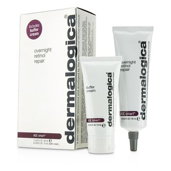 Dermalogica Age Smart Set: Overnight Retinol Repair 30ml + Buffer Cream 15ml  2pcs