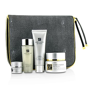 Estée Lauder Intensive Age-Renewal Collection: Re-Nutriv Creme 50ml + Cleanser 50ml + Lotion 50ml + Eye Creme 7ml + Travel Case  4pcs+1case