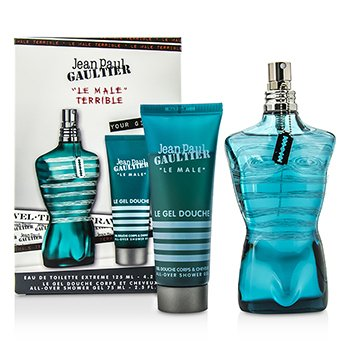 Jean Paul Gaultier Le Male Terrible Coffret: Eau De Toilette Extreme Spray 125ml/4.2oz +Gel de Ducha Total 75ml/2.5oz  2pcs
