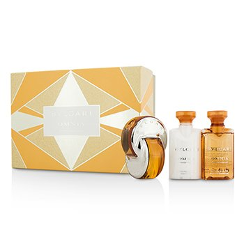 Bvlgari Omnia Indian Garnet Coffret: Eau De Toilette Spray 40ml/1.35oz + Loci�n Corporal 40ml/1.35oz + Gel de Ducha & Ba�o 40ml/1.35oz  3pcs