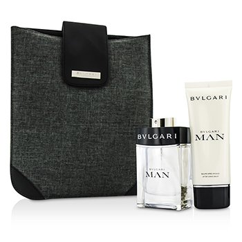 Bvlgari Man Coffret: Eau De Toilette Spray 100ml/3.4oz + Bálsamo para Después de Afeitar 100ml/3.4oz + Bag  2pcs+1bag