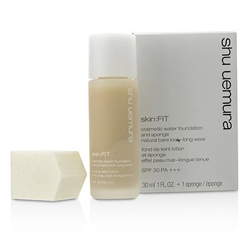 Shu Uemura Skin:Fit Cosmetic Water Foundation and Sponge SPF30 - #784 Fair Beige  30ml/1oz