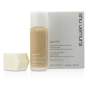 Shu Uemura Skin:Fit Cosmetic Water Foundation and Sponge SPF30 - #564 Medium Light Sand  30ml/1oz