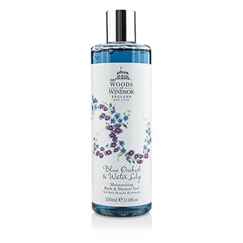 Woods Of Windsor Blue Orchid & Water Lily Moisturising Bath & Shower Gel  350ml/11.8oz