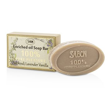 Sabon 100% Pure Pleasure Soap Bar - Patchouli Lavender Vanilla  70g/2.46oz