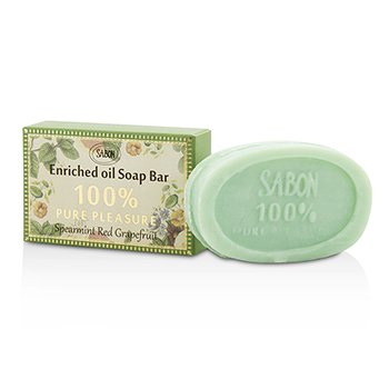Sabon 100% Pure Pleasure Barra de Jabón - Spearmint Grapefruit  70g/2.46oz