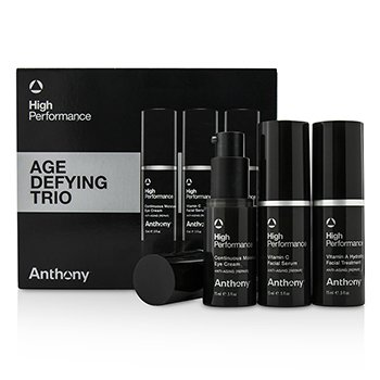 Anthony �ش High Performance Age Defying Trio:��շ��鹵���˹�� Facial Treatment 15ml +�������˹�� Facial Serum 15ml + �����ҵ� Eye Cream 15ml  3pcs
