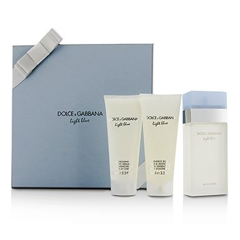 Dolce & Gabbana Light Blue Gift Coffret: Eau De Toilette Spray 100ml/3.3oz + Crema Corporal 100ml/3.3oz + Gel de Ducha & Ba�o 100ml/3.3oz  3pcs