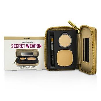 BareMinerals Secret Weapon Correcting Concealer & Touch Up Veil Duo - # Medium 2 + Medium  4.7g/0.22oz