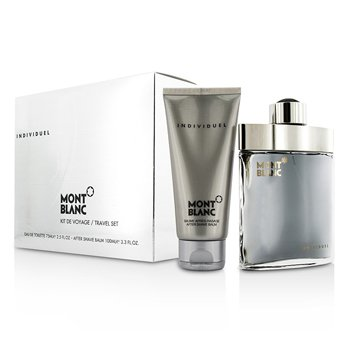 Mont Blanc Individuel Coffret: Eau De Toilette Spray 75ml/2.5oz + B�lsamo para Despu�s de Afeitar 100ml/3.3oz  2pcs