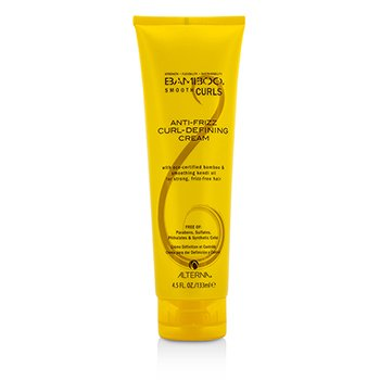 Alterna Bamboo Smooth Curls Crema Definición Rizos Anti Frizz (Para Cabello Fuerte, Libre de Frizz)  133ml/4.5oz