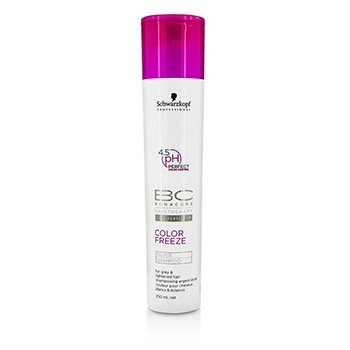 Schwarzkopf BC Color Freeze pH 4.5 Silver Champ� (Para Cabello Ilumiando, Gris)  250ml/8.4oz