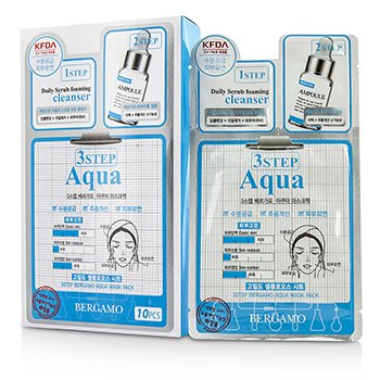Bergamo 3Step Bergamo Mask Pack - Aqua  10pcs