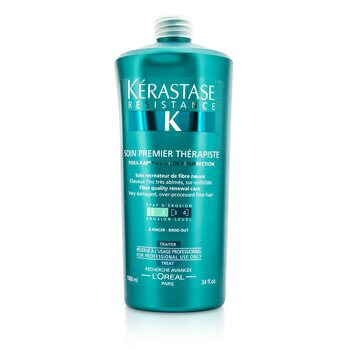 Kerastase Resistance Soin Premier Therapiste Fiber Quality Renewal Care (For Very Damaged, Over-Porcessed Fine Hair)  1000ml/34oz