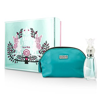 Anna Sui Secret Wish Coffret: Eau De Toilette Spray 30ml/1oz + Bolsa Para Cosméticos  1pc+1pouch