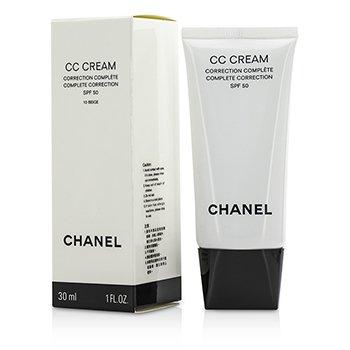 Chanel CC Cremă Completă de Corectare SPF 50 / PA++++ # 10 Bej  30ml/1oz