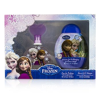 Air Val International Disney Frozen szett: Eau De Toilette spray 100ml/3.4oz + sampon és tusolózselé 300ml/10.2oz  2pcs