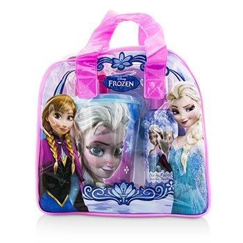 Air Val International Disney Frozen Coffret: Eau De Toilette Spray 100ml/3.4oz + Vaso Pl�stico + Bolsa  2pcs+1bag