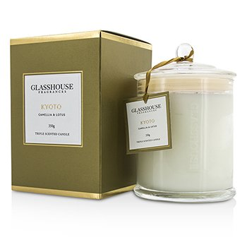 Glasshouse Triple Scented Candle - Kyoto (Camellia & Lotus)  350g