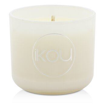 iKOU Eco-Luxury Aromacology Natural Wax Candle Glass - Nurture (Italian Orange Cardamom & Vanilla)  (2x2) inch