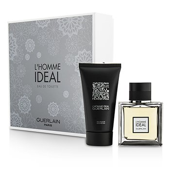 Guerlain L'Homme Ideal Coffret: Eau De Toilette Spray 50ml/1.6oz + Shower Gel 75ml/2.5oz  2pcs