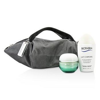 Biotherm Aquasource & Body Care X Mandarina Duck Coffret: Crema N/M 50ml + Cuidado Corporal Anti Sequedad 100ml + Bolsa  2pcs+1bag